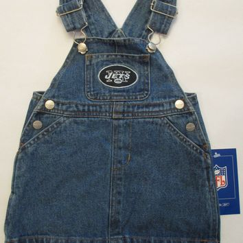 New York Jets Reebok Infant Jean Skirt Jumper Size 18 Months