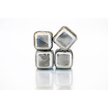 SPARQ Stainless Whiskey Cubes (Set of 4)   Overstock.com Shopping - The Best Deals on Bar & Wine Tools