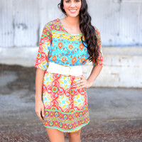 Sunburst Tunic Dress