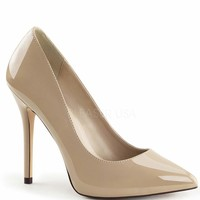 Nude Patent Leather Amuse Heels
