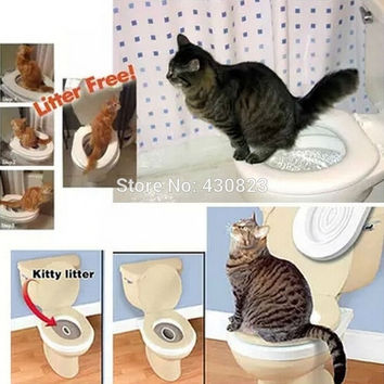 Plastic Cat Toilet Training product For Pet Training Easy To Learn Save Litter Pet Products = 1929605188