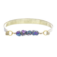 Rainbow Druze Nugget Bangle | VidaKush