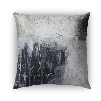 CHALKBOARD ABSTRACT SET ONE Indoor|Outdoor Pillow By Jolina Anthony