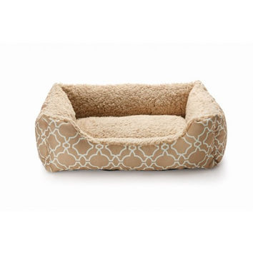 """Pet Bed- 21"""" X 16""""- Natalie- Taupe"""