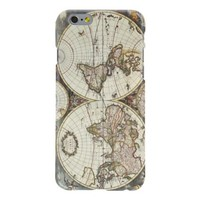iPhone 6 Case, Vintage World Map Hard Case Cover for iPhone 6 (4.7 inches)
