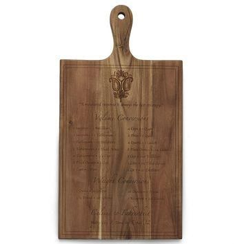 Easy Exotic by Padma Lakshmi Acacia Wood Conversions Cutting Board (Brown)