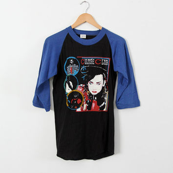 original Culture Club t-shirt, Boy George baseball tee