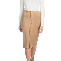 Ali Suede Pencil Skirt-FINAL SALE