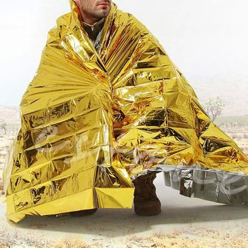 Waterproof Outdoor Rescue Blanket Emergency Survival Foil Thermal First Aid 1Pc-P101