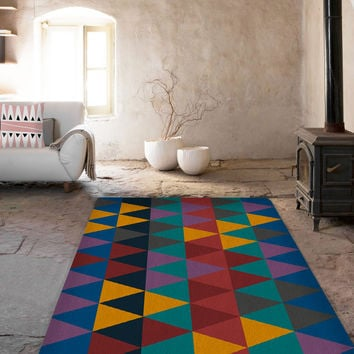 Triangles Area rug - 5x8 Rug - Affordable area rugs
