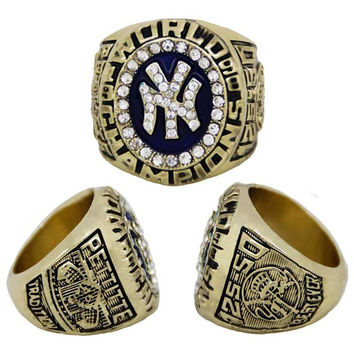 2015 Fashion Crystal Jewelry Sport Jewelry 1998 NY Championship Ring Custom Big Size 11,Gold Pl