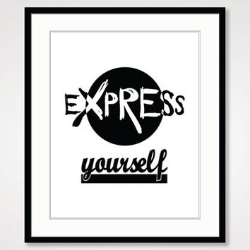 motivational wall decor, black and white art, beauty self confidence, inspirational print, best friend gift, quote poster, typographic print