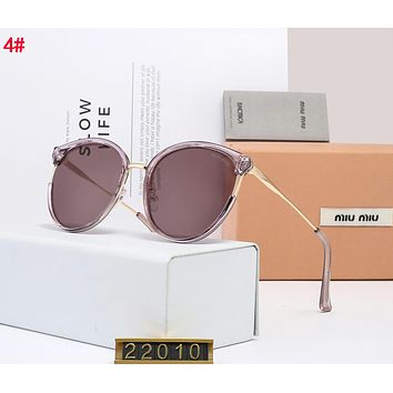 Miu Miu Popular Women Casual Shades Eyeglasses Glasses Sunglasses 4#