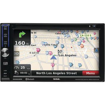 "SOUNDSTORM DD865BN 6.5"" Double-DIN In-Dash Touchscreen Multimedia Player with Navigation & Bluetooth(R)"