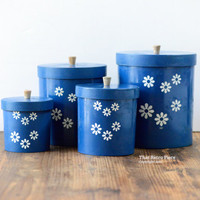 Plastic kitchen canisters, set of four (made in Japan)