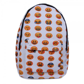 New 2016 Emoji Face Printing Book High quality Backpack