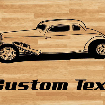 Hot Rod Side Pipes Car Wall Decal - Auto Wall Mural - Vinyl Stickers - Boys Room Decor