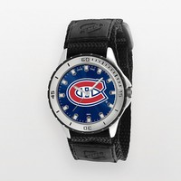 Game Time Veteran Series Montreal Canadiens Silver Tone Watch - NHL-VET-MON - Men (Black)