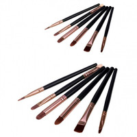 New Arrival 6 pcs Basic eye Brush Set Blend eye shadow brush blush brush Makeup Brush