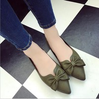 2018 new flat shoes woman fashion pointed toe shallow mouth empty flat shoes elegant women OL dress shoes