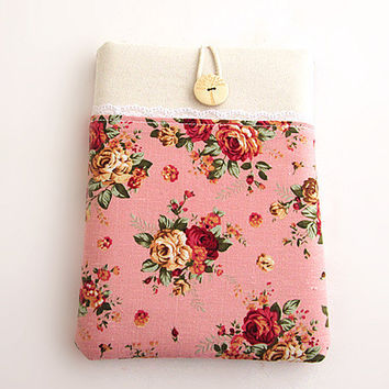 Rose Macbook 11 inch Sleeve Macbook Air/Pro Case Padded 11 in Microsoft Surface case, Google Nexus 10. Pink