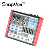 Free Shipping Professional Mini Audio Mixer Console 4 Channel Mixing Small Sound Equipment Amplifier DJ Line Gain Return Effect