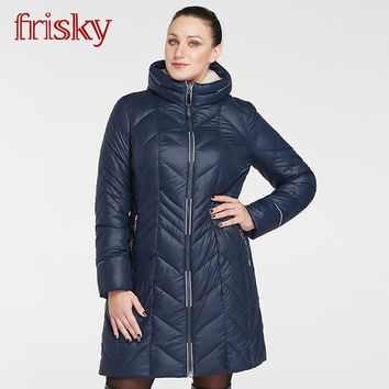 Frisky High-quality Large Size Women's Winter coat Jacket Thick Warm Wind Jackets Female Fashion Casual Parkas Big Size FR6212