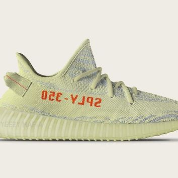 """Ready Stock"" adidas Originals YEEZY 350 BOOST V2 ""Semi Frozen Yellow"""