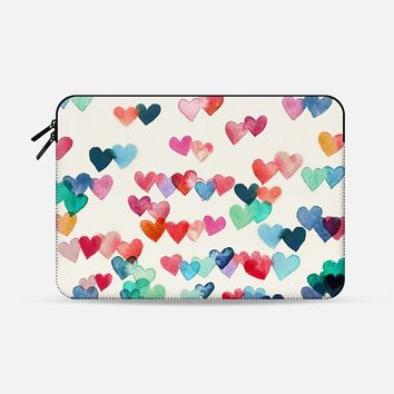 "Heart Connections Watercolor Painting Macbook 12"" sleeve by Micklyn Le Feuvre 