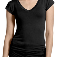 LE3NO Womens Lightweight Fitted Short Sleeve T Shirt with Stretch (CLEARANCE)