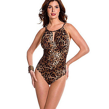 Magicsuit Cheetah Kat One-Piece - Brown