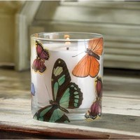 Butterfly Fantasy Wild Orchid Scented Decorative Candle