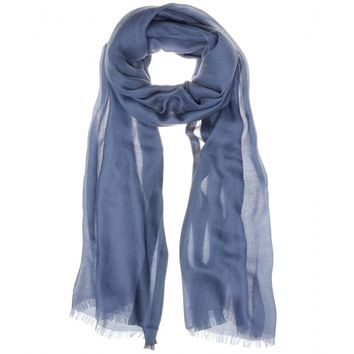 loro piana - shadow soffio cashmere and silk-blend scarf