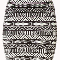 Standout Geo Bodycon Skirt