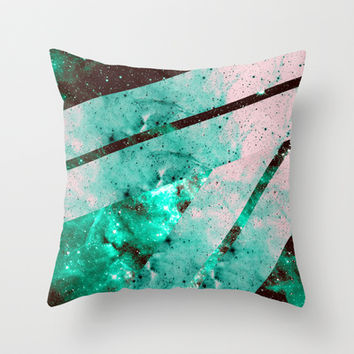 Galaxy Wrap Up Throw Pillow by Caleb Troy