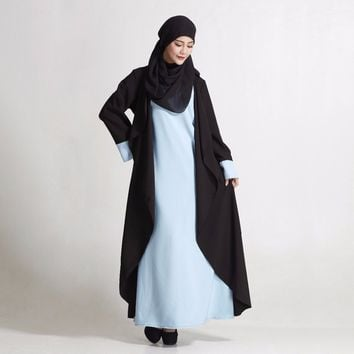 Fashion Hijab Dress Muslim Women Abaya Turkish Long Dress Loose Araba Islamic Clothing Malaysia Dubai Maxi Muslimah Dresses