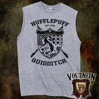 Hufflepuff Quidditch (Yellow or Black Print) Muscle Shirt