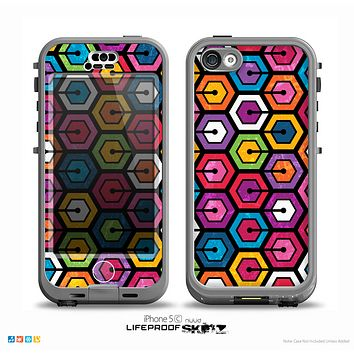 The Colorful Vibrant Hexagons Skin for the iPhone 5c nüüd LifeProof Case