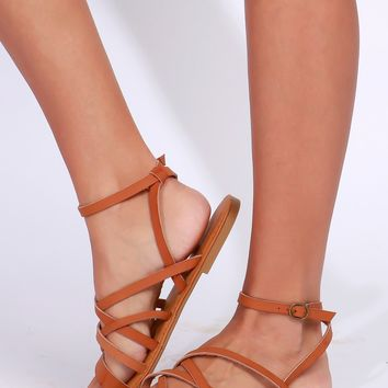 Strappy Gladiator Sandal Tan