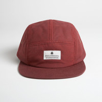 Waxed Cotton Camp Cap - Oxblood
