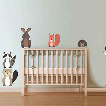 Forest animals Wall Decals for nursery woodland animals Wall Decals for nursery forest wall decal for nursery kcik1762