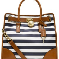 MICHAEL Michael Kors Handbag, Hamilton Large Stripe North South Tote - Shop All - Handbags & Accessories - Macy's