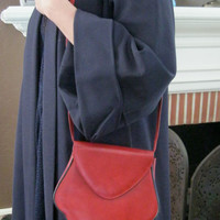 Vintage Charles Jourdan Purse / Red / Shoulder Bag / Small and Adorable