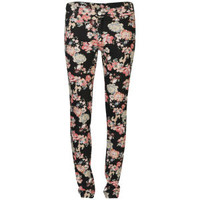 2nd One Women's Floral Printed Jeans - Black 			Womens Clothing | TheHut.com