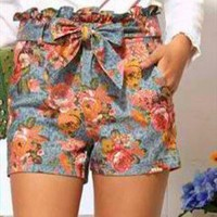 Adorable Floral Denim Shorts from CocoCouture