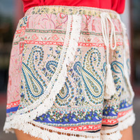 Piece Of My Heart Shorts, Rust-Navy