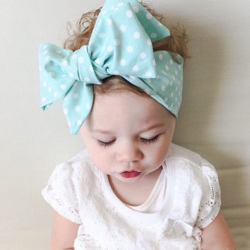Summer style big bowknot baby girl hair accessories Infant baby headband Children elastic hair bands Ribbons and bows 1PC
