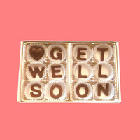 Get Well Soon Milk Chocolate Letters-Sympathy Gift for Kid Boy Girl-Made to Order