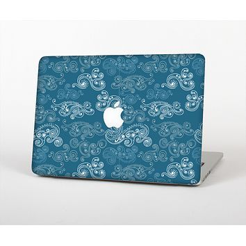 The Seamless Blue and White Paisley Swirl Skin for the Apple MacBook Air 13""