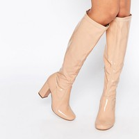 River Island Patent Knee High Boot